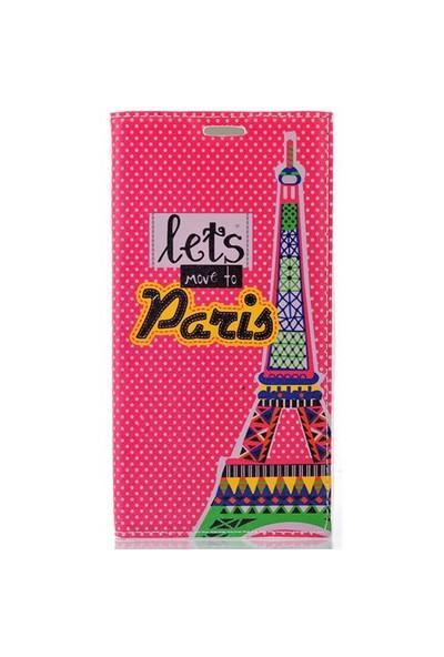 CoverZone Samsung Galaxy S6 Edge Plus Kılıf Kapaklı Move To Paris