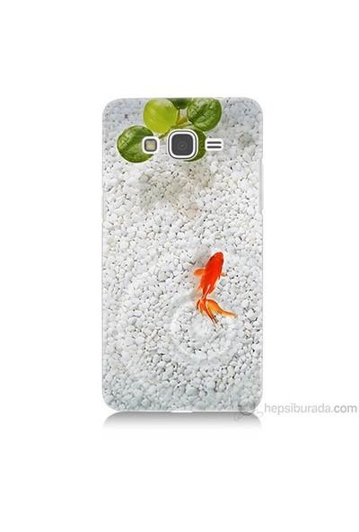 Teknomeg Samsung Galaxy Grand Prime Kapak Kılıf Kırmızı Balık Baskılı Silikon