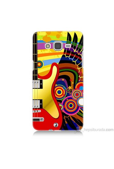 Teknomeg Samsung Galaxy Grand Prime Kapak Kılıf Renkli Gitar Baskılı Silikon