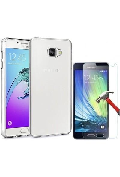 Kılıfshop Samsung Galaxy A5 2016 Silikon Kılıf + Ekran Koruyucu