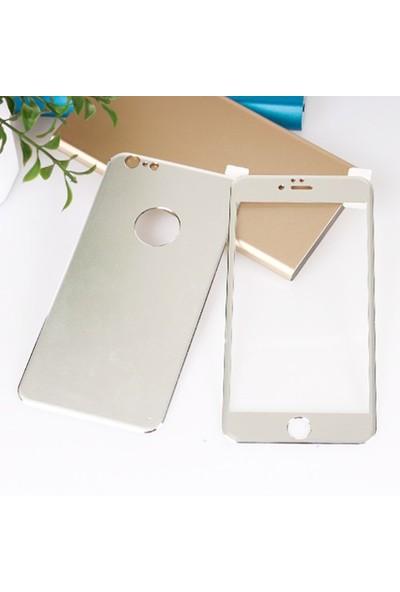 Bufalo Apple iPhone 6 Metal Kenarlı Ön Arka Cam Ekran Koruyucu