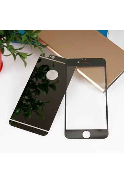 Bufalo Apple iPhone 6 Plus - 6S Plus Aynalı Ön Arka Cam Ekran Koruyucu Siyah