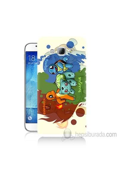 Teknomeg Samsung Galaxy A8 Kapak Kılıf Pokemon Baskılı Silikon