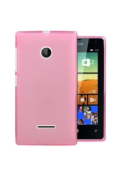 Microsonic Microsoft Lumia 532 Kılıf Transparent Soft Pembe