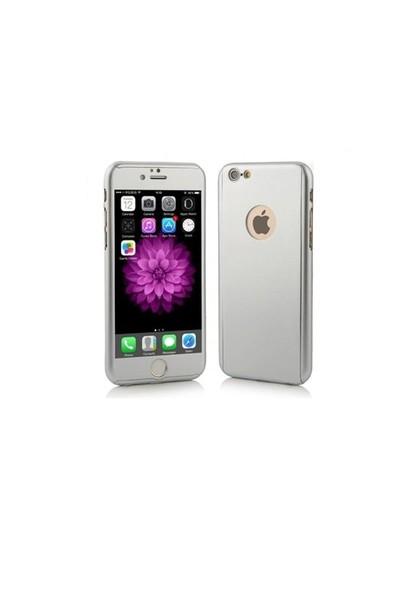 Ksp İphone 6/6S Kılıf 360 Derece Tam Koruma Gümüş