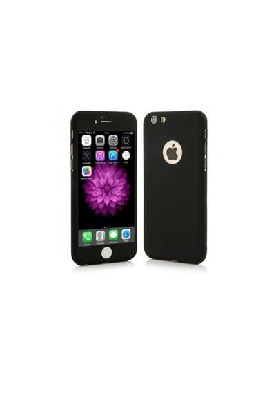 Ksp Apple iPhonde 6 Plus/6S Plus Kılıf 360 Derece Tam Koruma Siyah