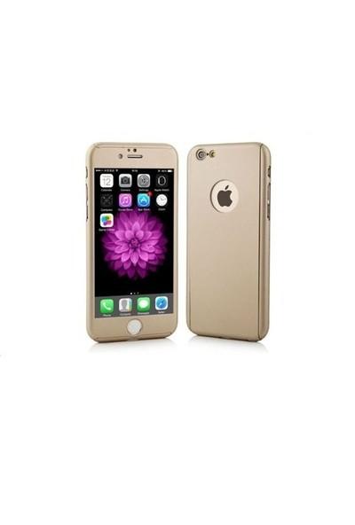 Ksp Apple iPhonde 6 Plus/6S Plus Kılıf 360 Derece Tam Koruma Gold