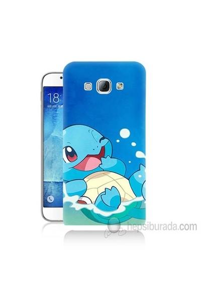 Teknomeg Samsung Galaxy A8 Kapak Kılıf Pokemon Squirtle Baskılı Silikon