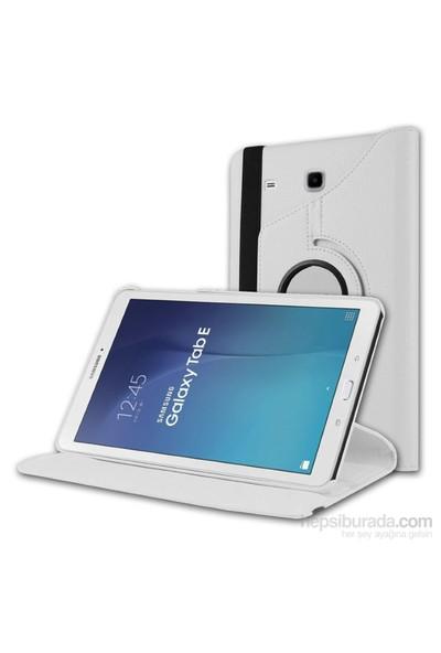 İdealtrend Samsung Galaxy Tab E T560 360 Dönebilen Siyah Stand Kılıf
