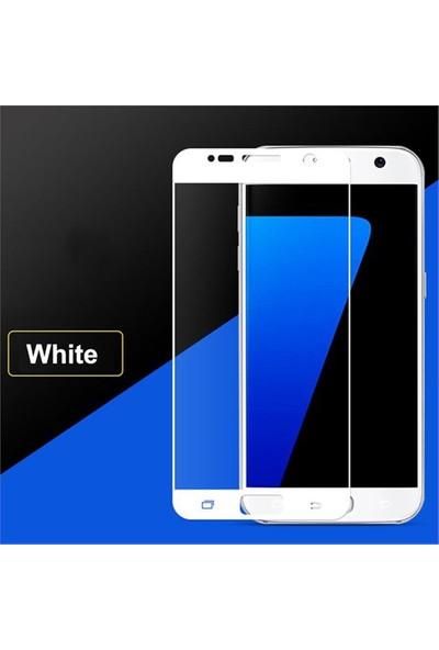 Coverzone Samsung Galaxy S7 Full Cam Koruma Renkli Beyaz