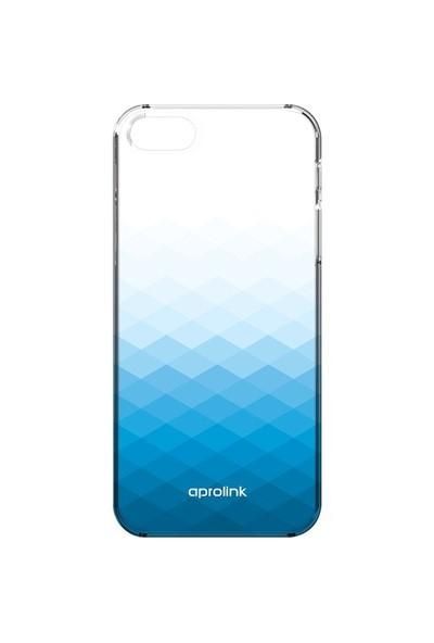 Aprolink Apple iPhone 6 Gradient Ultra İnce Yari Şeffaf Kılıf Mavi - I6PP10BL