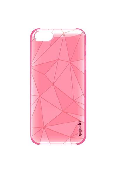 Aprolink Apple iPhone 6 Origami Kristal Desenli Ultra İnce Kılıf Pembe - I6PP21PK