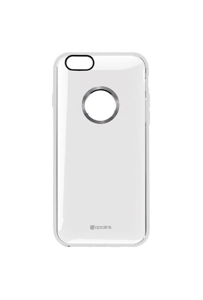 Aprolink Apple iPhone 6 Metal Halkali Yumusak Kenarli Ultra İnce Kılıf Şeffaf - I6DT10TR