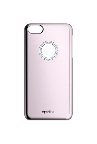 Aprolink Apple iPhone 6 PLUS Deluxe Serisi Metal Halkali Metal Desenli Kılıf Pembe - I6PDM10PK