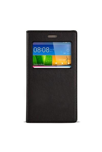 Fitcase Dolce Huawei Gr5 Gizli Mıknatıslı Pencereli Kılıf Siyah