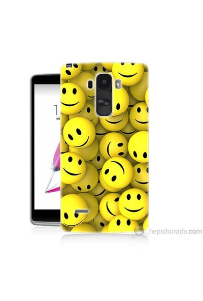 Teknomeg Lg G4 Stylus Kapak Kılıf Smile Baskılı Silikon