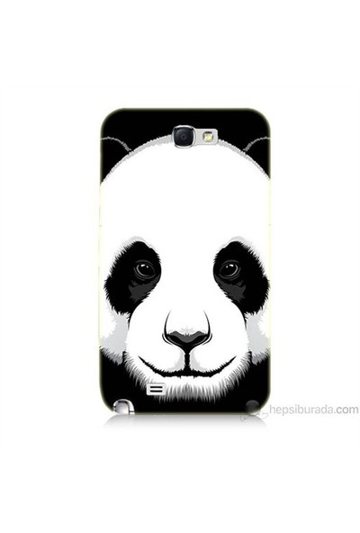 Teknomeg Samsung Galaxy Note 2 Kapak Kılıf Panda Baskılı Silikon