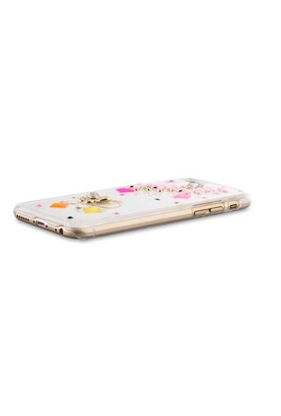 """Addison Ip-671 Desenli Taşlı İphone 6 Plus 5.5"""" Koruma Kılıfı"""