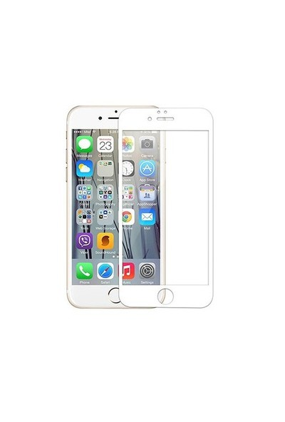 Addison Ip-853 Tempered Glass 0.3Mm Beyaz İphone 6S Full Cover Cam Ekran Koruyucu