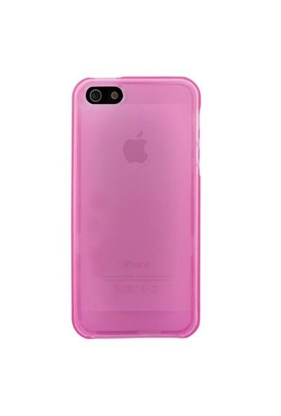 Laxon C305 Led TPU Kılıf iPhone 5 Pembe