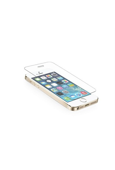 Okmore Apple İphone 5 / 5S Temperli Ekran 2İn1 0.33 2.5D