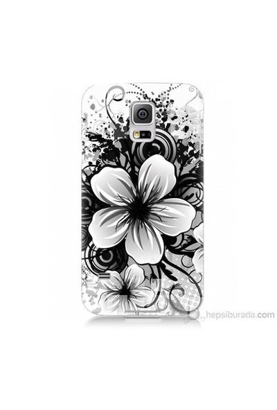Teknomeg Samsung Galaxy S5 Mini Kapak Kılıf Manolya Baskılı Silikon