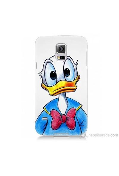 Teknomeg Samsung Galaxy S5 Mini Kapak Kılıf Donald Duck Baskılı Silikon