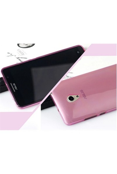 Microsonic Transparent Soft Asus Zenfone 6 Kılıf Pembe