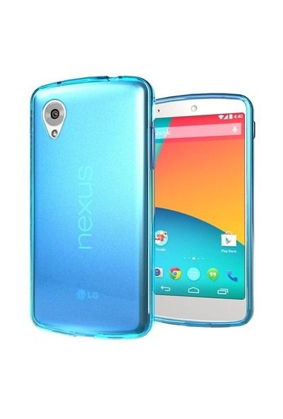 Microsonic Transparent Soft Lg Nexus 5 Kılıf Mavi