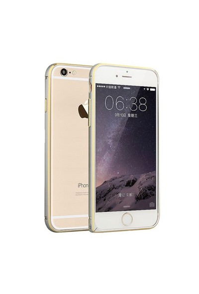 Markaawm Apple iPhone 6 Plus Kılıf Metal Bumper Çerçeve