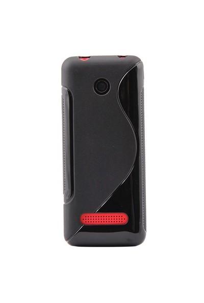 Duck Asha 206 Silikon Kilif Daily Siyah Kapak
