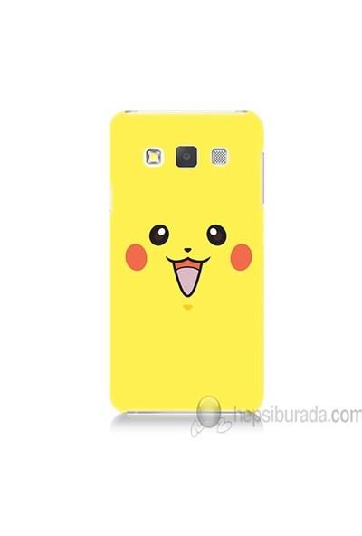 Teknomeg Samsung Galaxy A5 Kapak Kılıf Pokemon Pikachu Baskılı Silikon