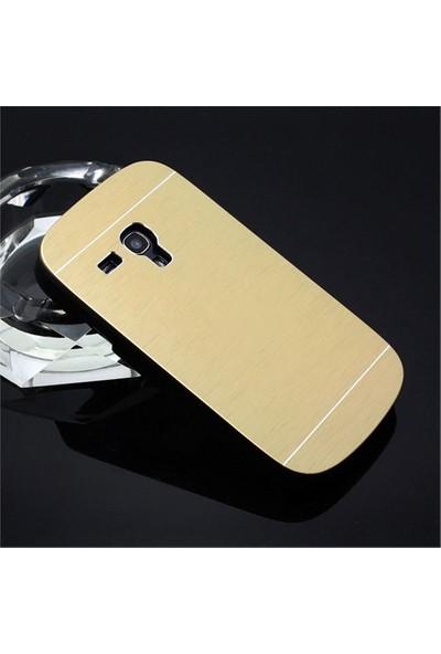 Microsonic Samsung Galaxy S3 Mini Kılıf Hybrid Metal Gold