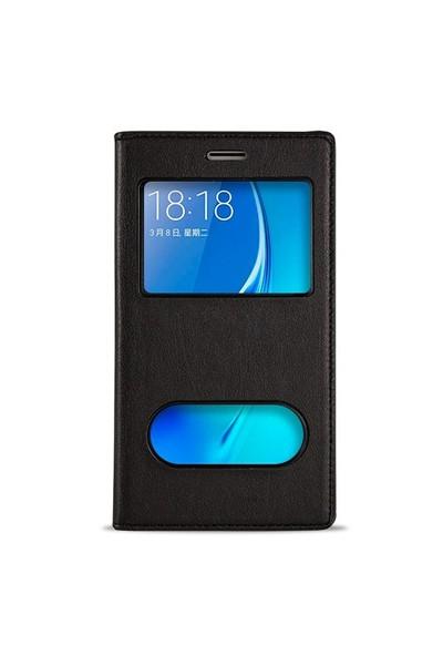 Fitcase Dolce Galaxy J5 2016 Gizli Mıknatıslı Pencereli Kılıf Siyah