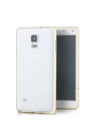 Microsonic Samsung Galaxy Note 4 Ultra Thin Metal Bumper Kılıf Sarı - CS180-MTL-BMP-GLX-NOTE4-SRI