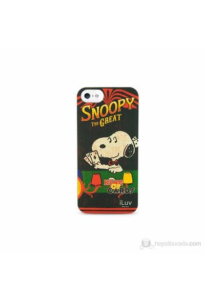 iLuv Apple iPhone 5 Gri ICA7H382GRY Snoopy Vintage Series Hardshell Kılıf
