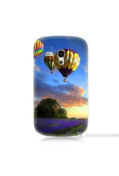 Teknomeg Samsung Galaxy S3 Mini Kapak Kılıf Uçan Balon Baskılı Silikon