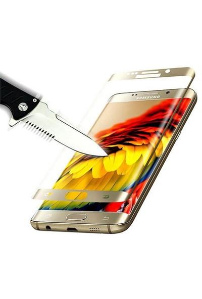Dafoni Samsung Galaxy S7 Edge Curve Tempered Glass Premium Beyaz Cam Ekran Koruyucu