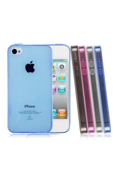 Microsonic Transparent Soft İphone 4S Kılıf Beyaz