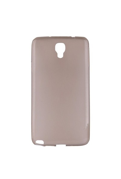 Mycolors Samsung Galaxy Note 3 Neo Açık Siyah İnce Silikon Arka Kapak - MYC-0111