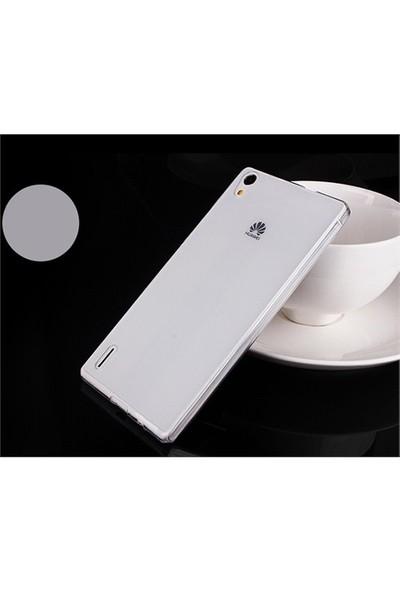 Microsonic Transparent Soft Huawei Ascend P7 Kılıf Beyaz