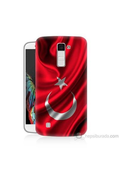 Teknomeg Lg K10 Kapak Kılıf Türkiye Bayrağı Baskılı Silikon