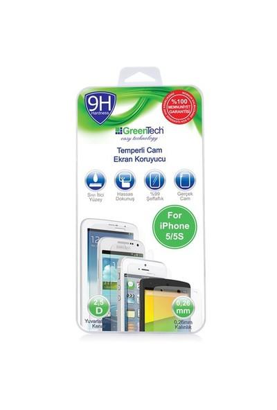 Greentech Apple İphone 5/5S Glass Cam Ekran Koruyucu