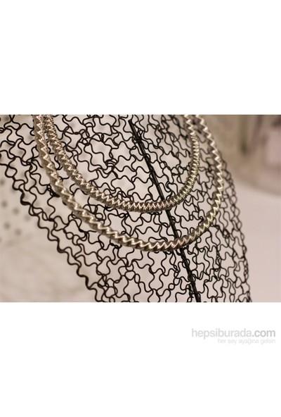 Bengü Accessories Gümüş Rengi Modern Tasarım Yaka Kolye