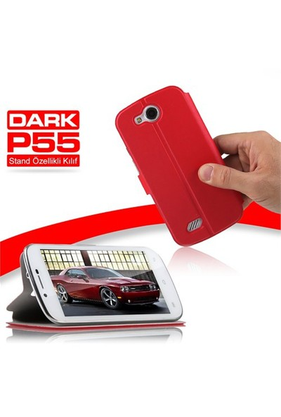 Dark Evo P55 Ön ve Arka Kılıf - Kırmızı - (DK-AC-EVOP55KL1R)