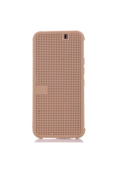 CoverZone Htc One M9 Kılıf Dot View Gold