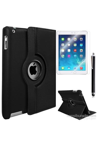 Exclusive Phone Case Exclusive Phone Case iPad 2 Kılıf 360 Standlı Siyah+Film+Kalem