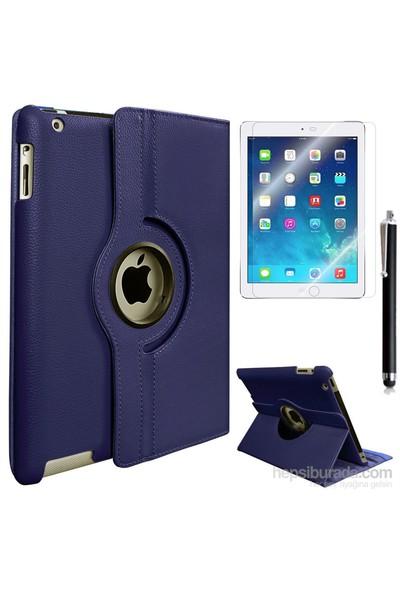 Exclusive Phone Case Exclusive Phone Case iPad 2 Kılıf 360 Standlı Lacivert+Film+Kalem