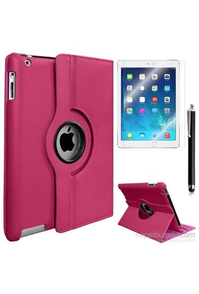 Exclusive Phone Case Exclusive Phone Case iPad 3 Kılıf 360 Standlı Pembe+Film+Kalem