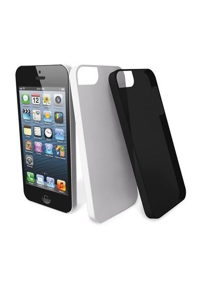 Muvit Ultra Thin 2'li iPhone 5/5s Kılıfı + Ekran Koruyucu Film (Beyaz, Siyah)